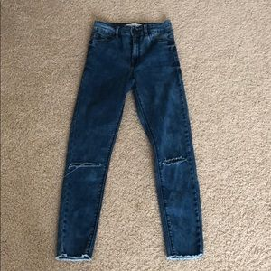 Bullhead ripped super high rise skinny jeans